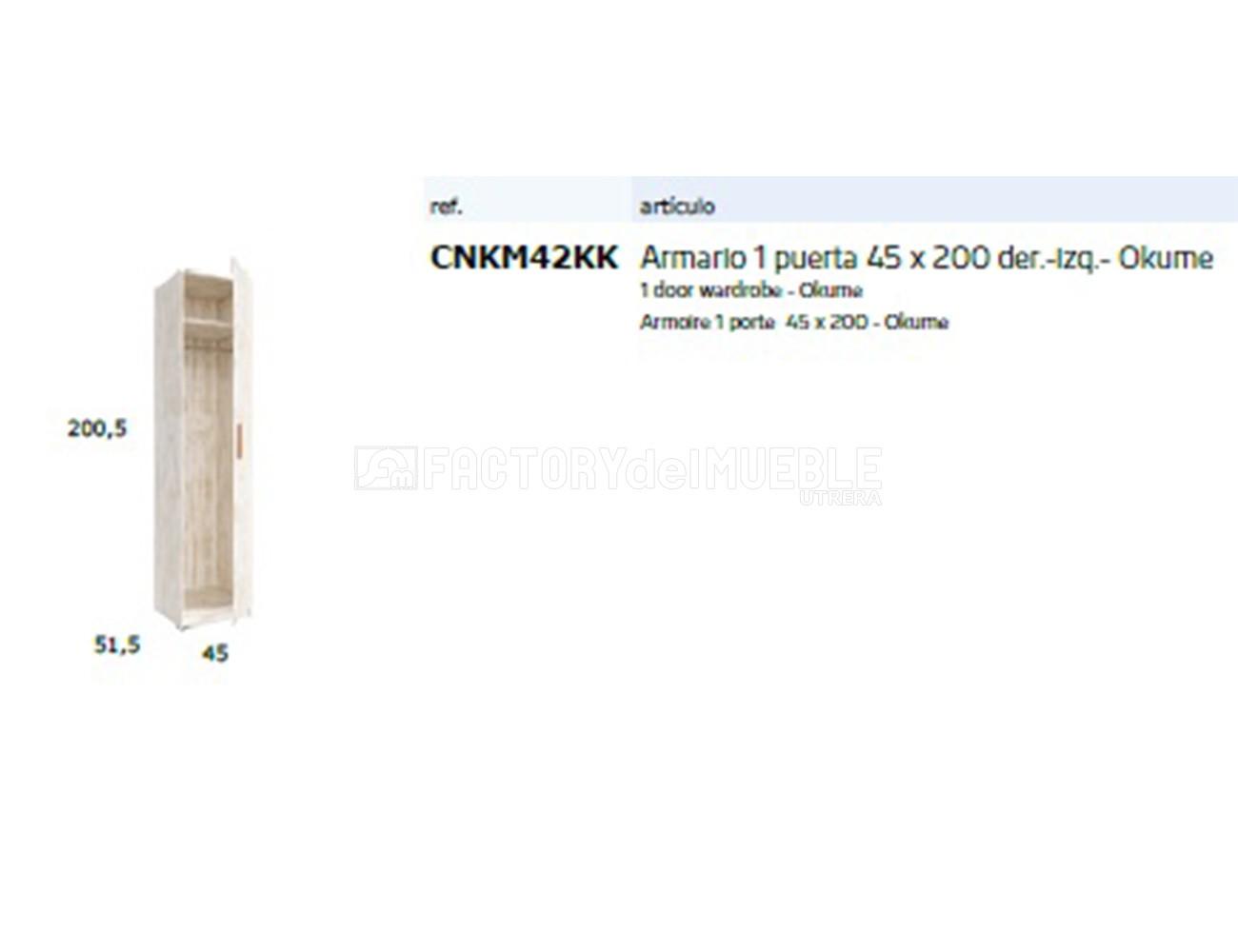 Cnkm42kk armario1 puerta