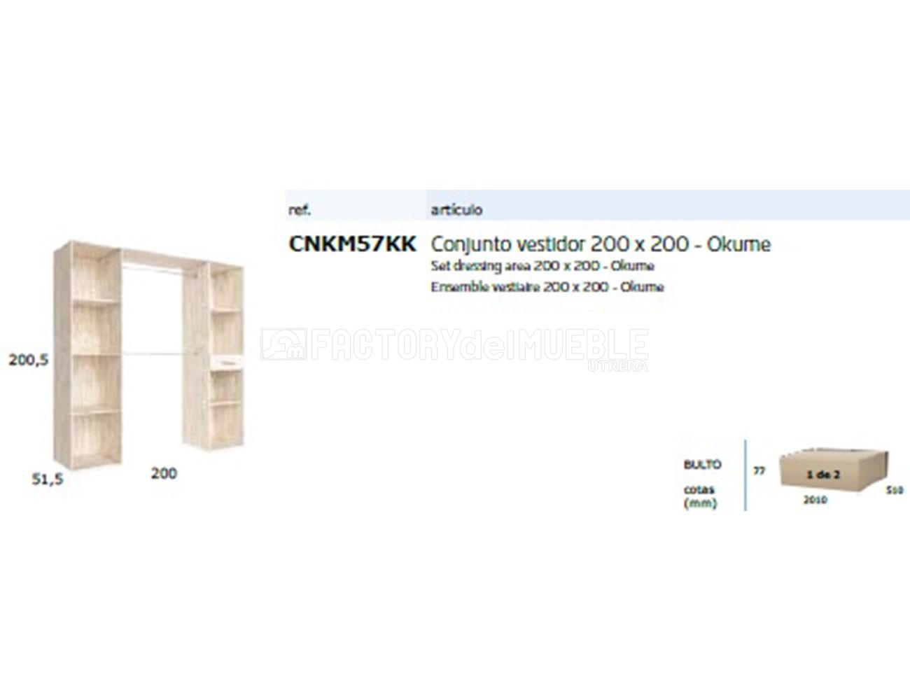 Cnkm57kk conjunto vestidor 200x200
