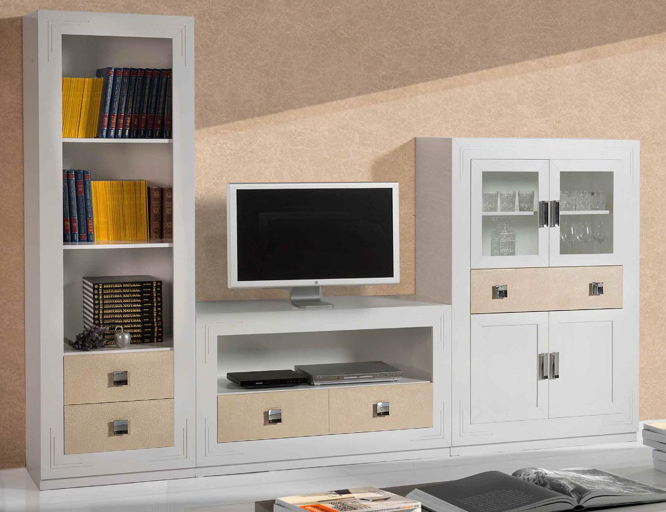 Composicion 13 mueble salon comedor librero vajillero