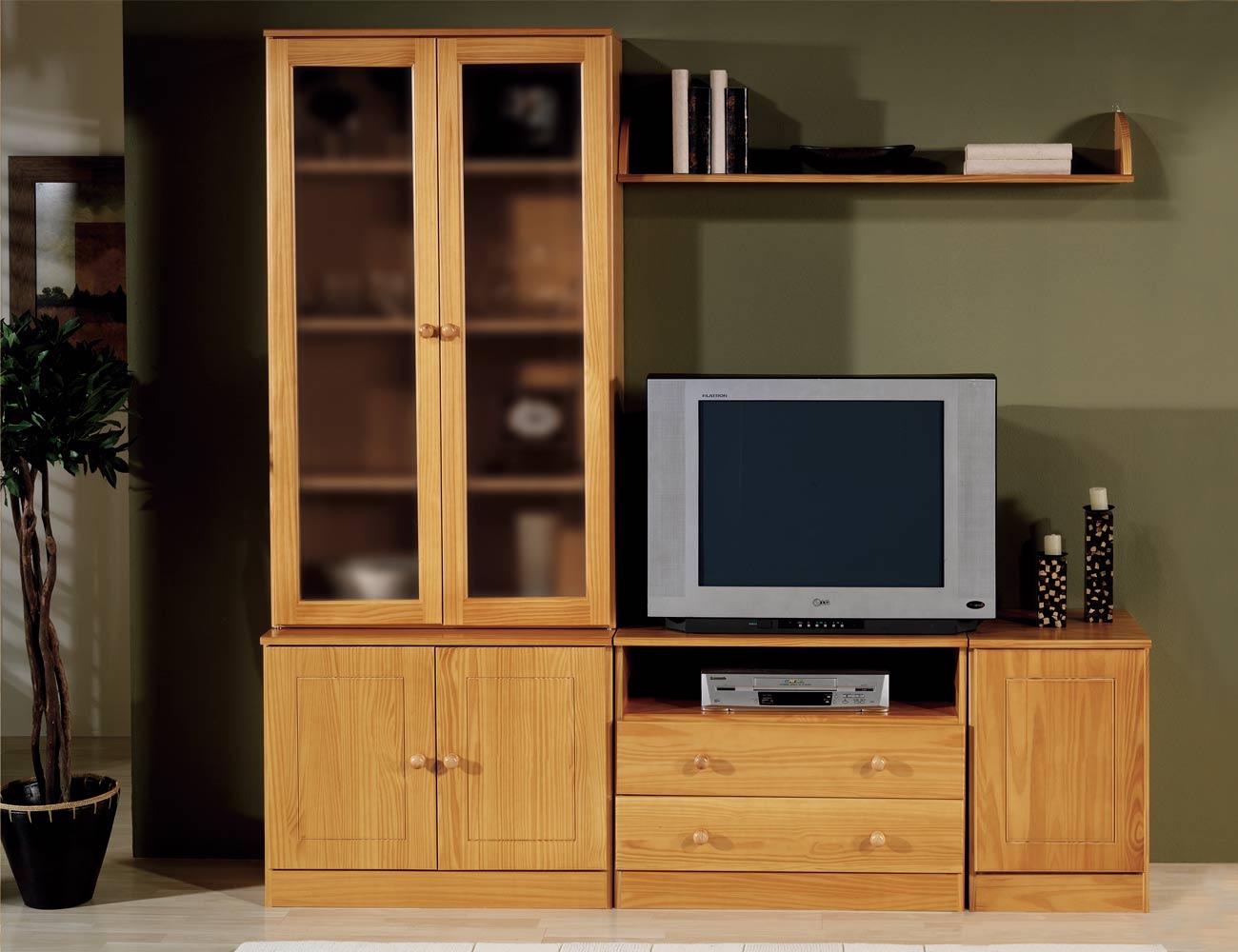 Composicion apilable 4 muebles provenzal madera pino
