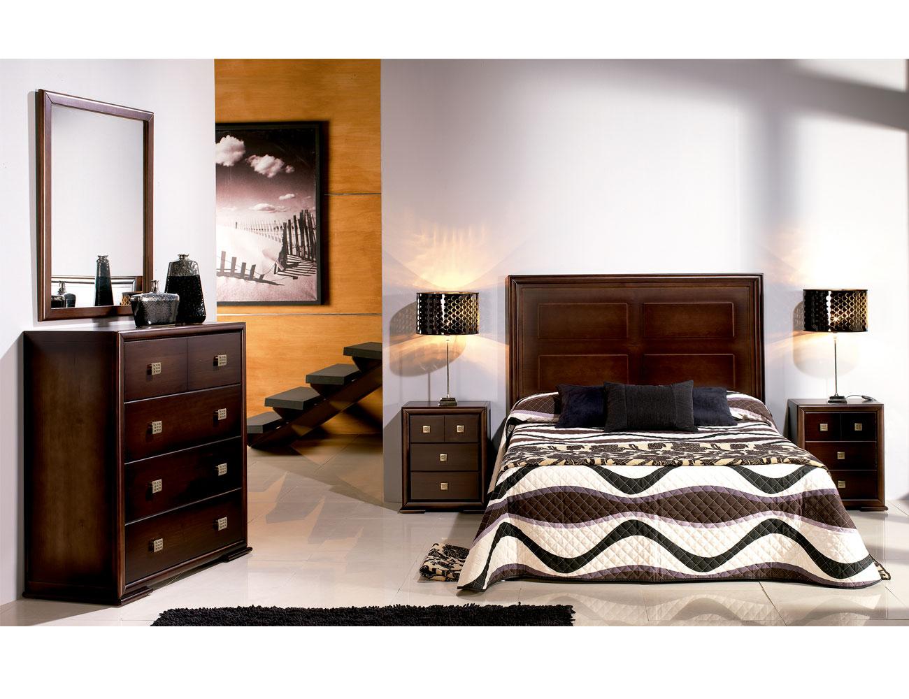 Composicion01 dormitorio matrimonio comoda madera