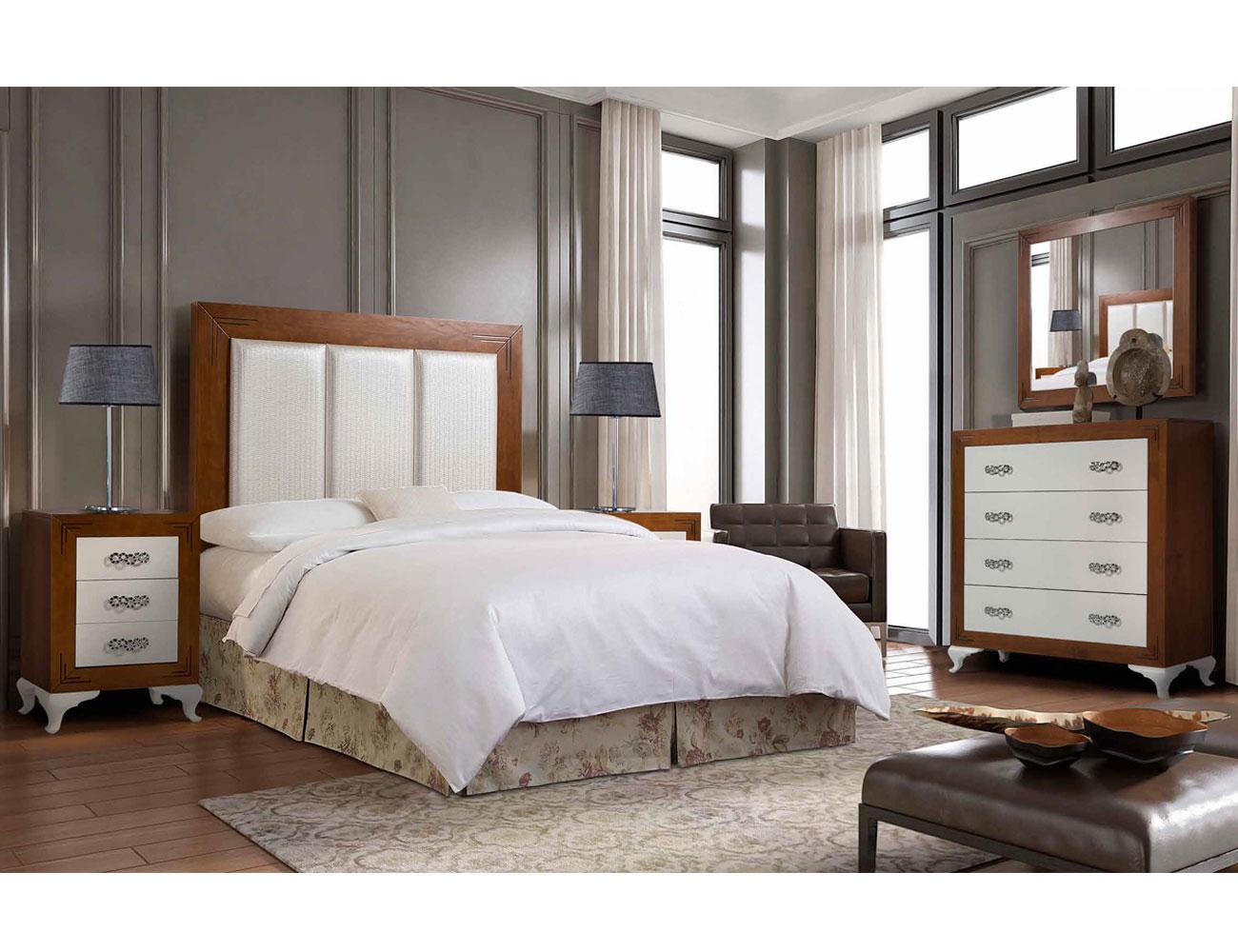 Composicion05 dormitorio matrimonio cabecero tapizado