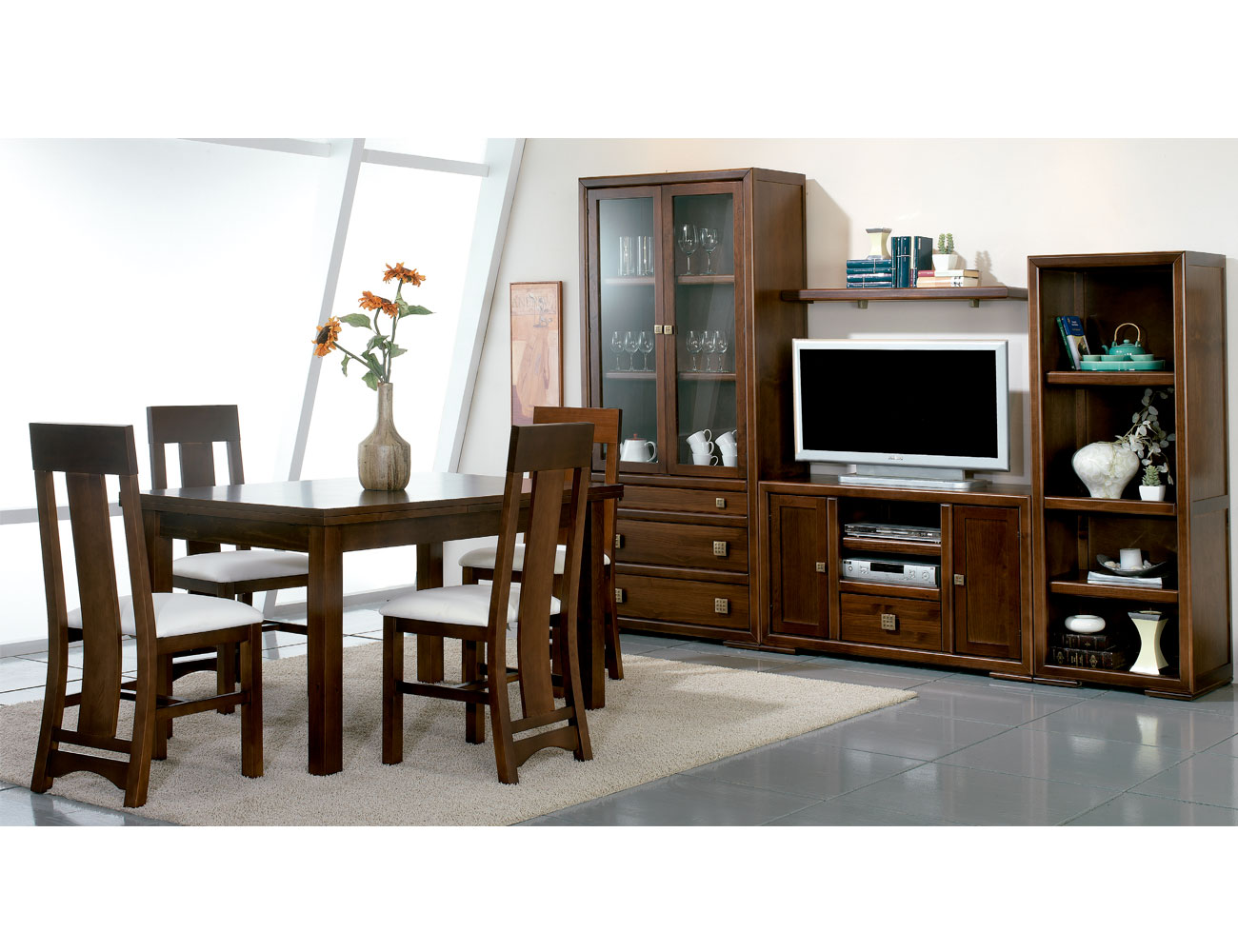 Composicion12 mueble salon comedor mesa silla1