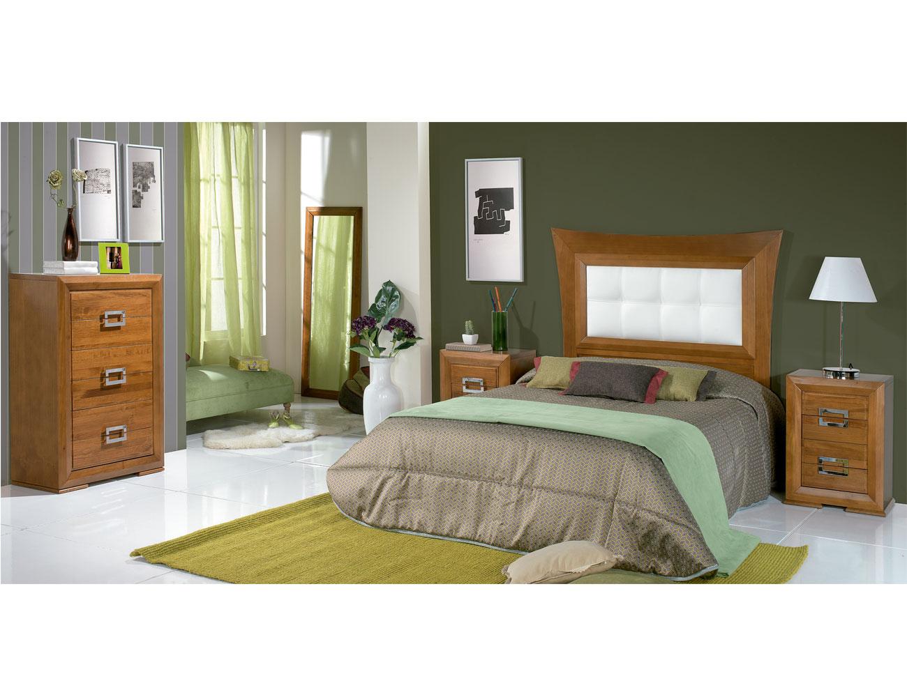 Composicion21 dormitorio matrimonio cabecero tapizado
