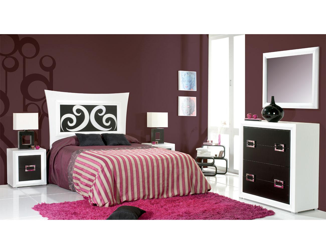 Composicion22 dormitorio matrimonio cabecero comoda