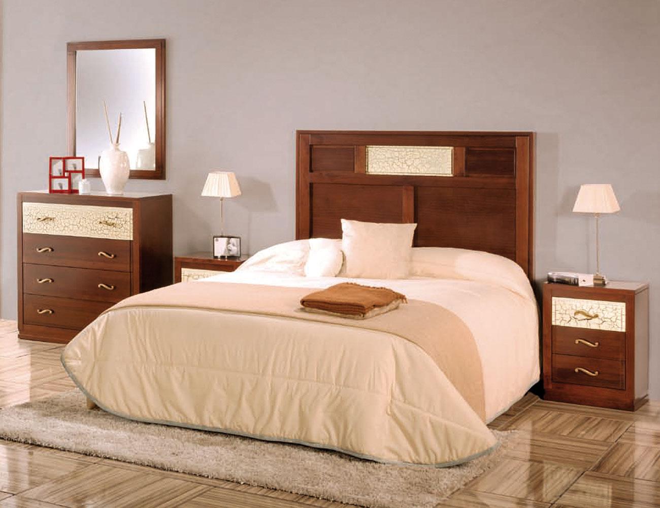 Composicion43 dormitorio matrimonio cabecero 3 plafones comoda