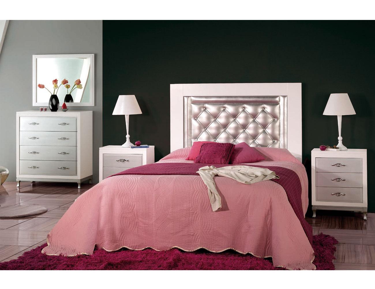 Composicion46 dormitorio matrimonio cabecero tapizado comoda