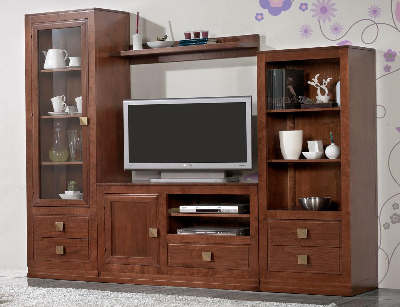 Composicion54 mueble salon comedor vitrina librero