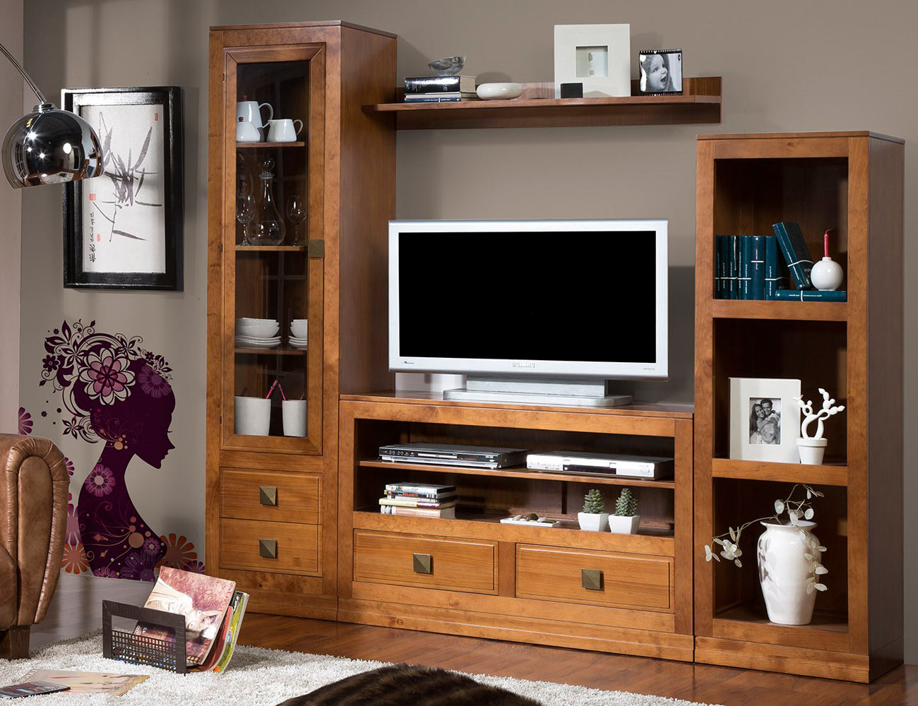 Composicion55 mueble salon comedor vitrina librero