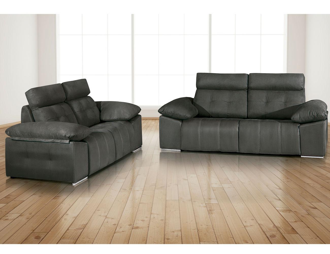 Conjunto sofa 3 2 plazas electrico tejido dante1