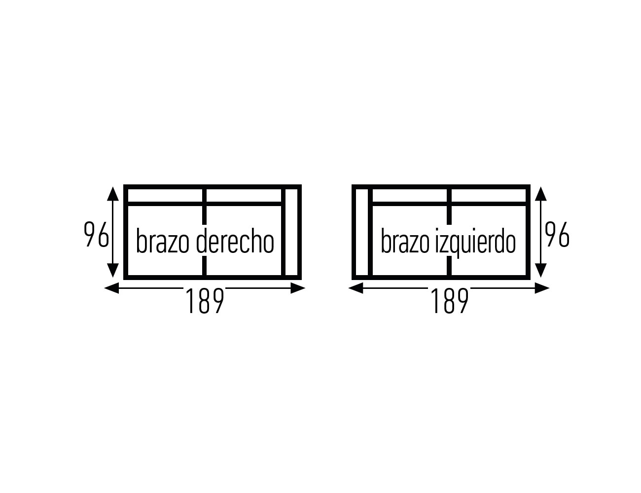 Croquis 3p sin 1 brazo 18919