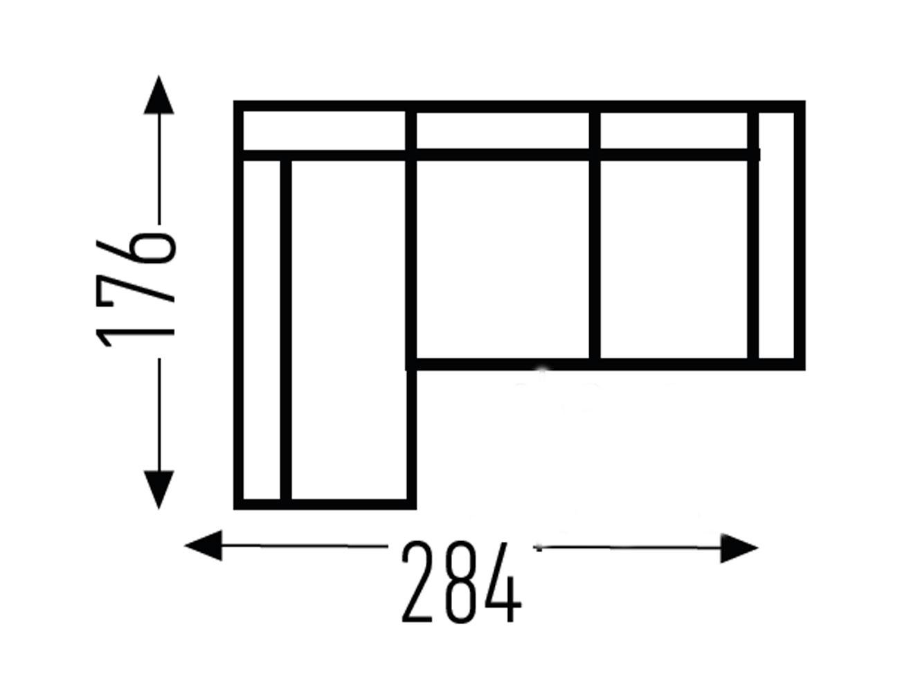Croquis modulo fijo sin 1 brazo 189
