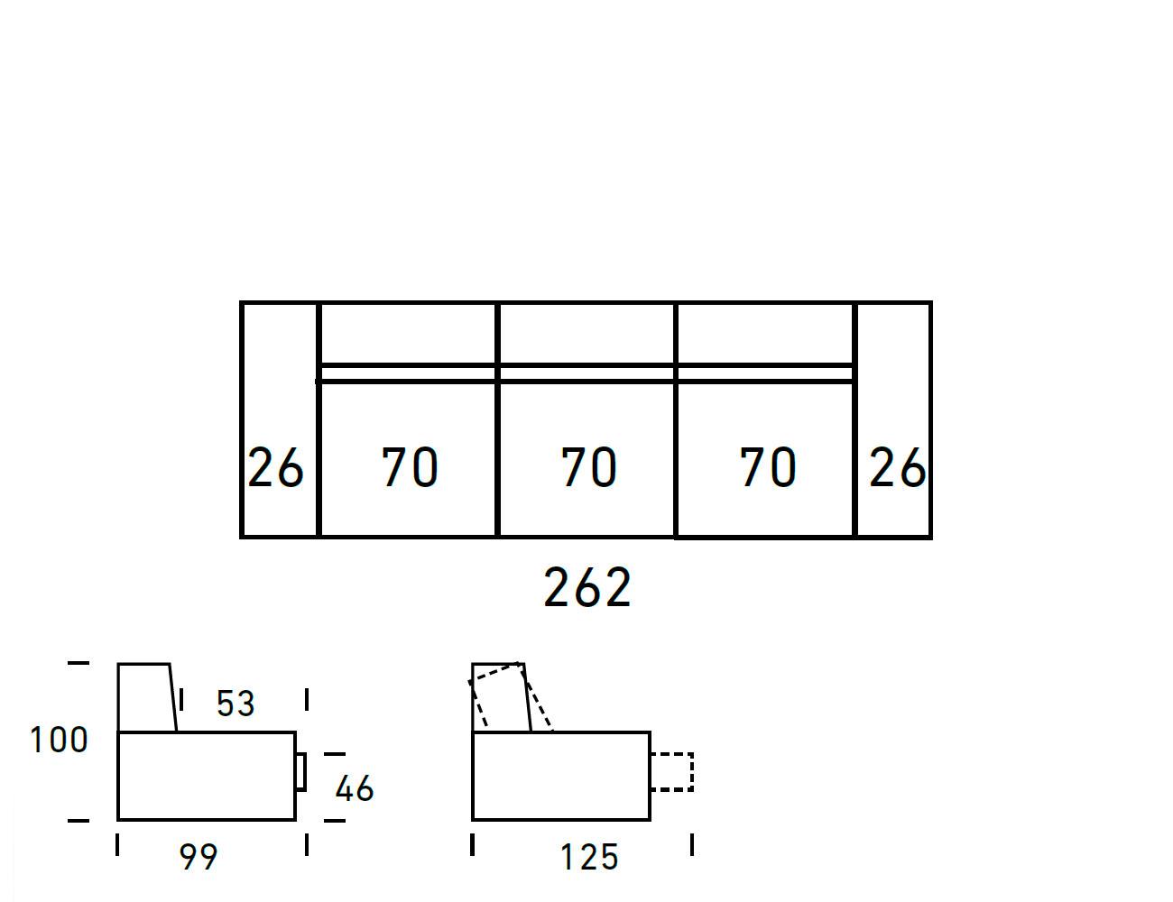 Croquis sofa 3 plazas 2621