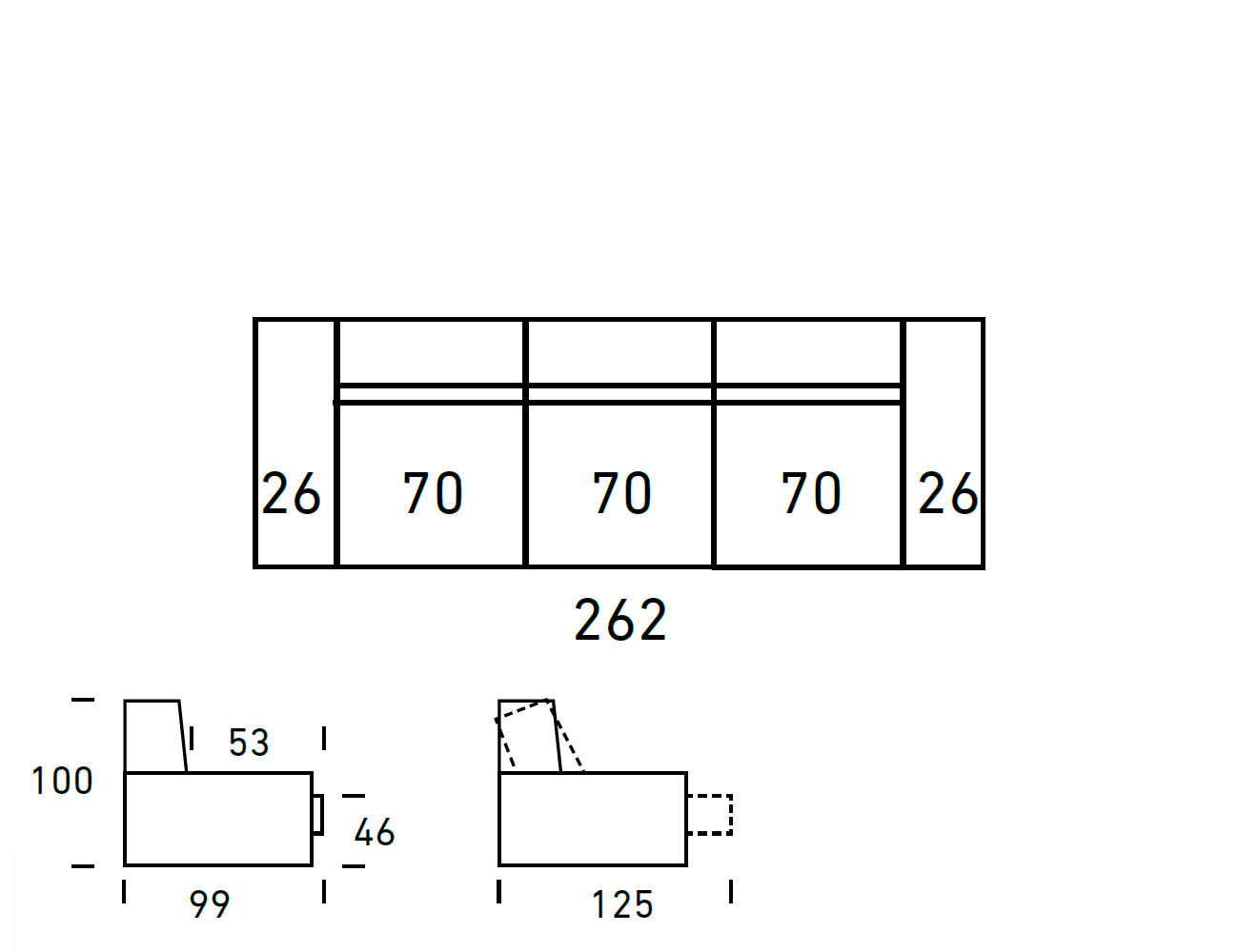 Croquis sofa 3 plazas 2624