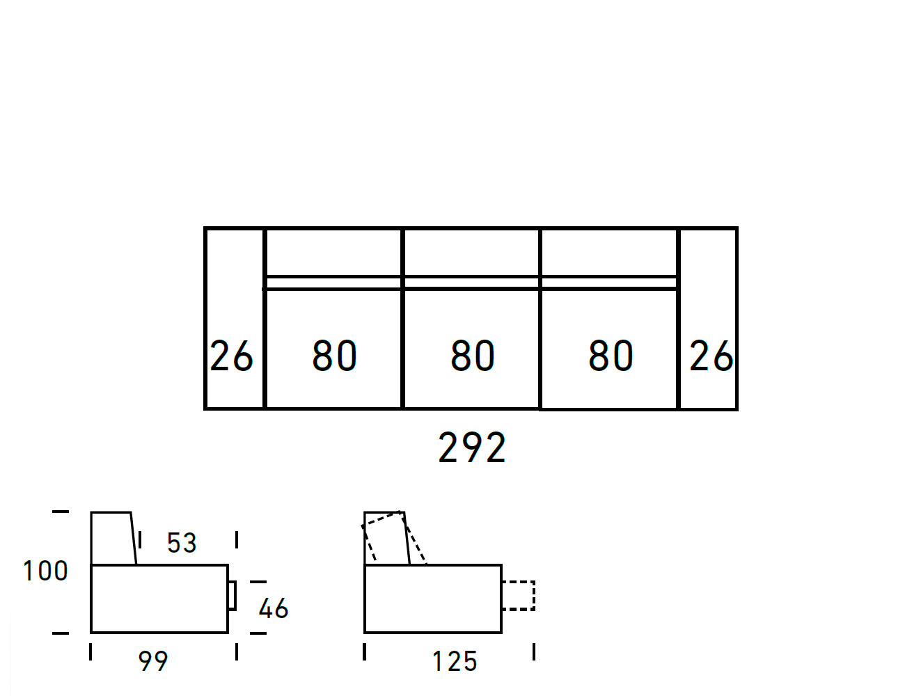 Croquis sofa 3 plazas 2922