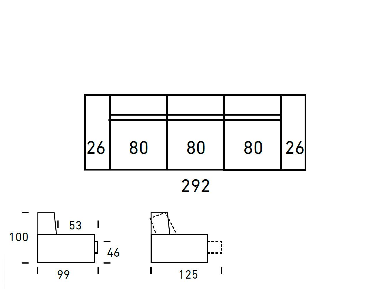Croquis sofa 3 plazas 2923