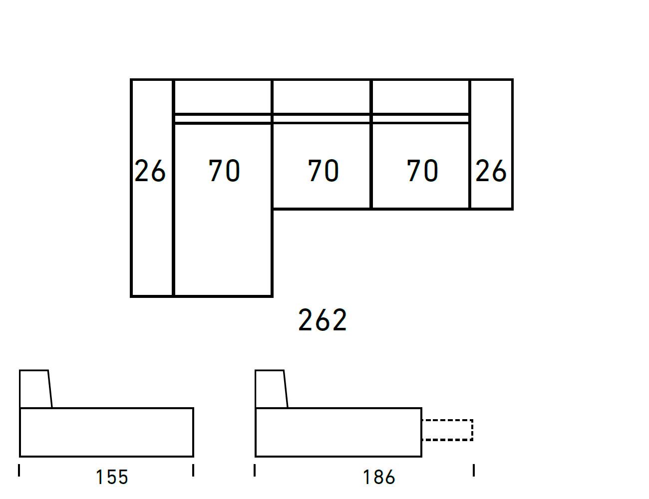 Croquis sofa chaiselongue 2624