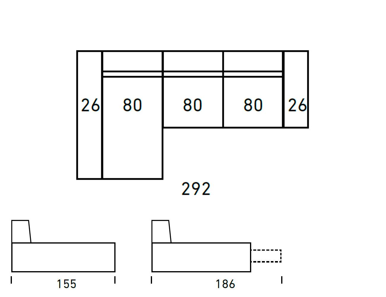 Croquis sofa chaiselongue 2924