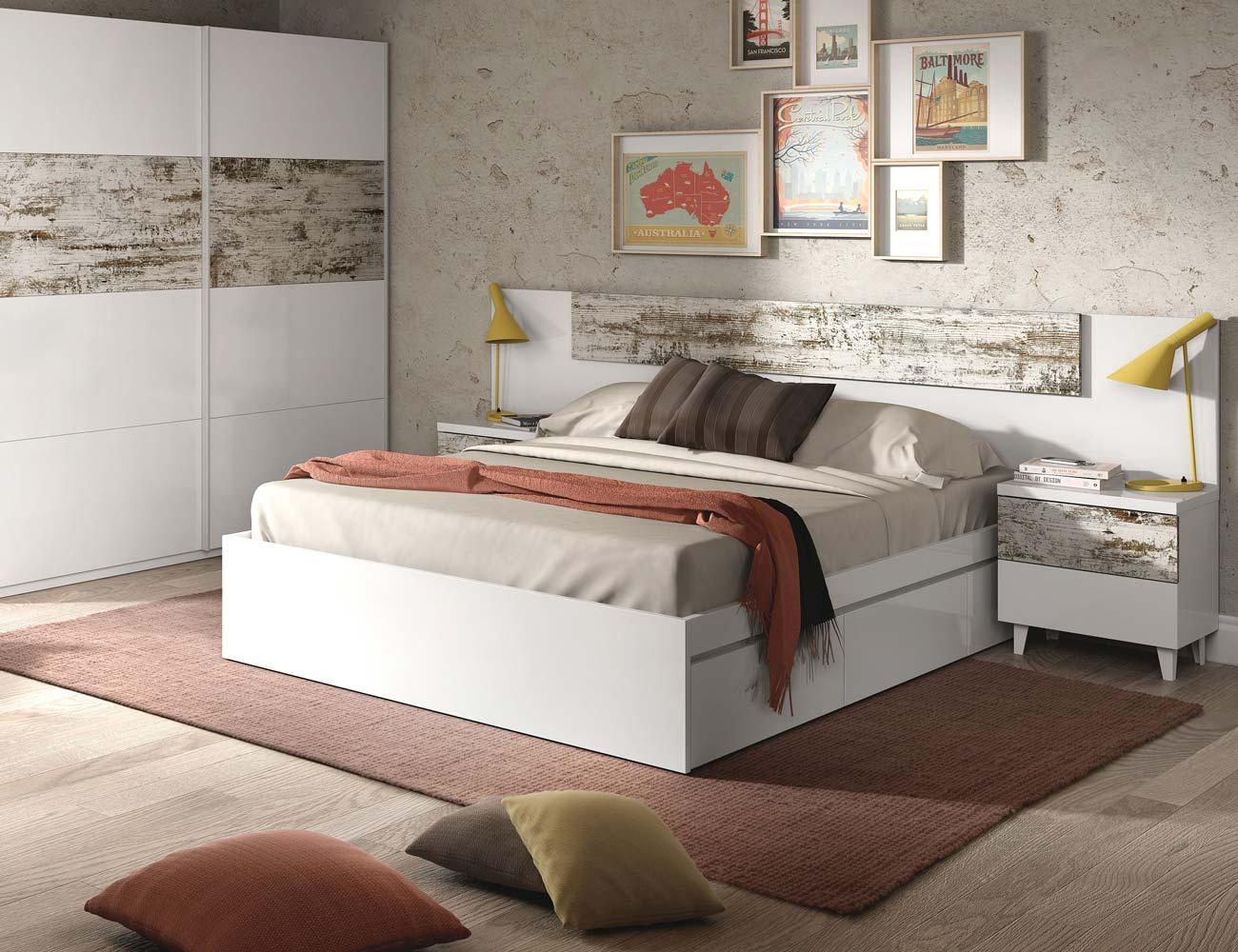 Dormitorio blanco vintage moderno