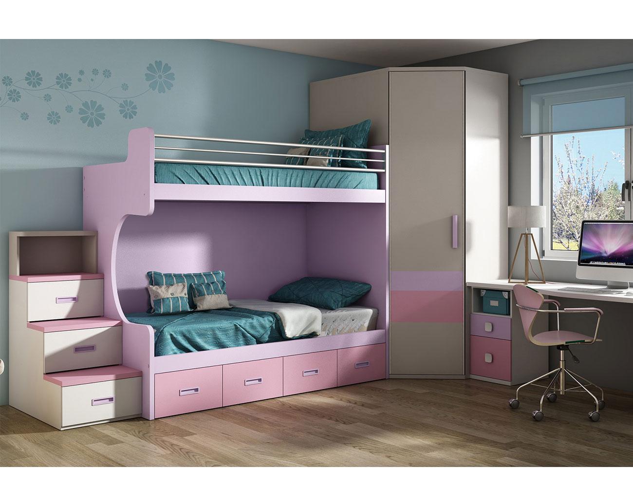 Dormitorio juvenil armario rincon