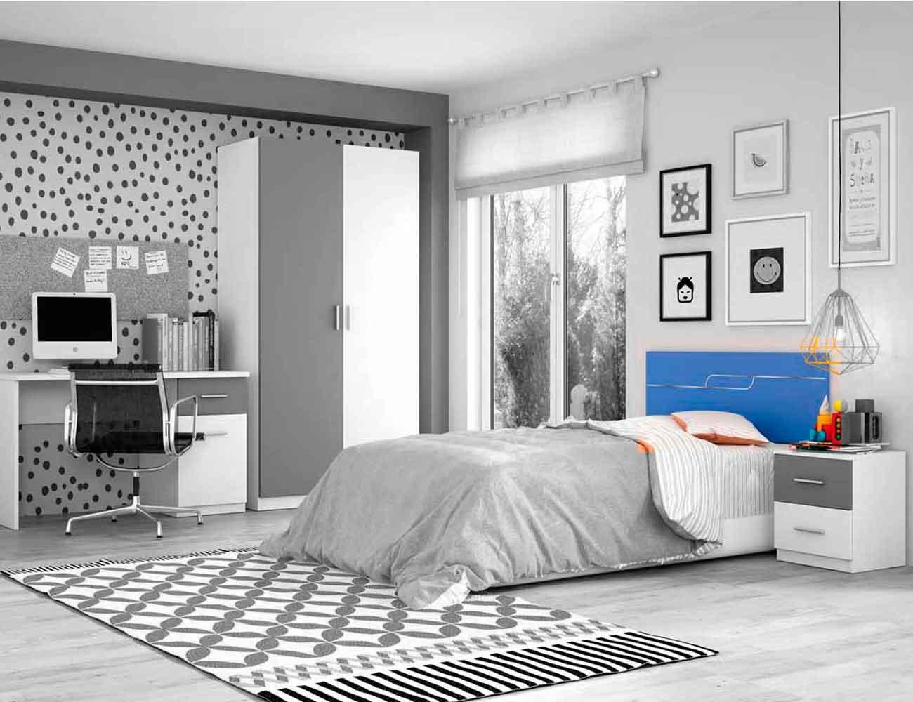 Dormitorio juvenil cabecero 110 cm