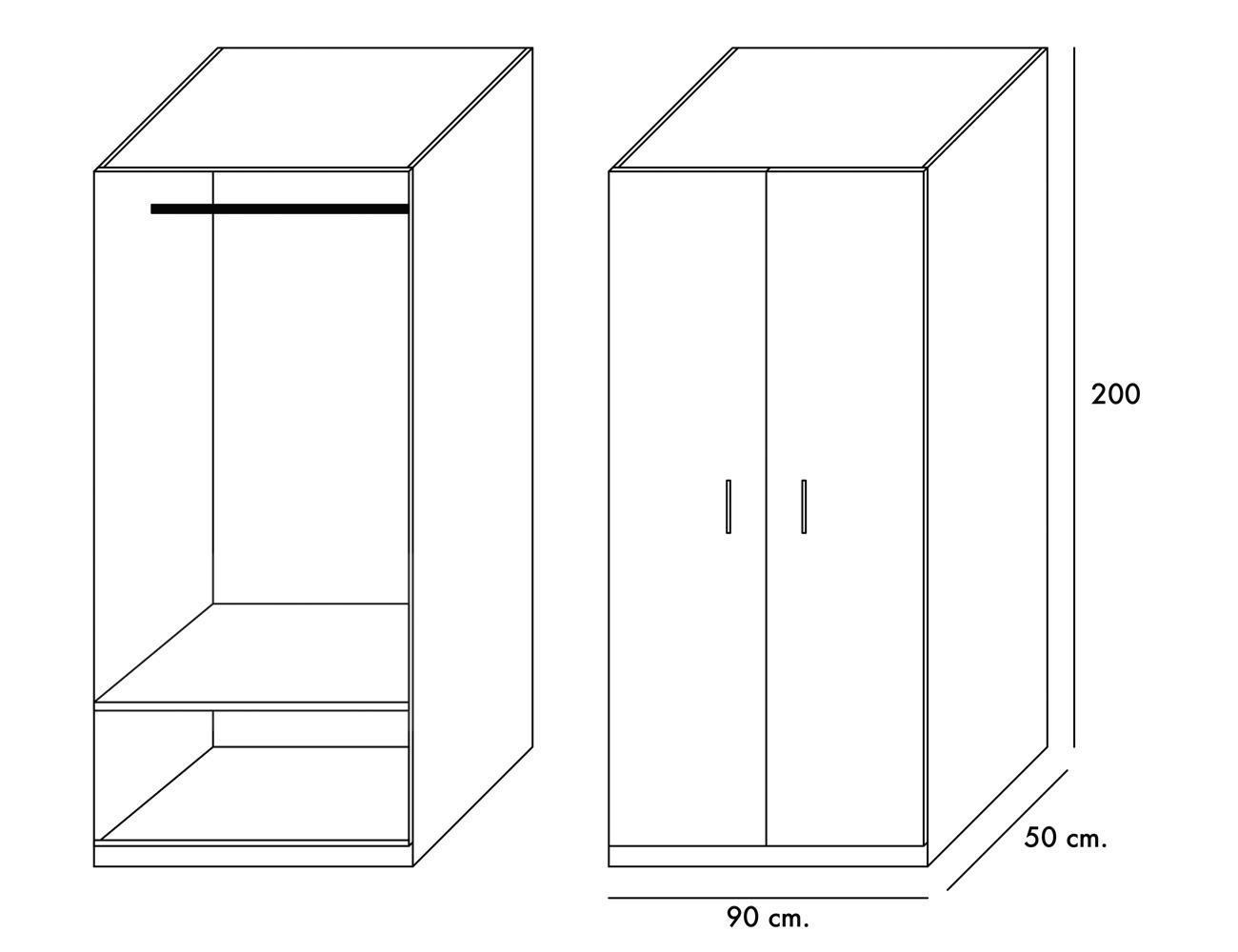 Dormitorio juvenil estante adicional armario