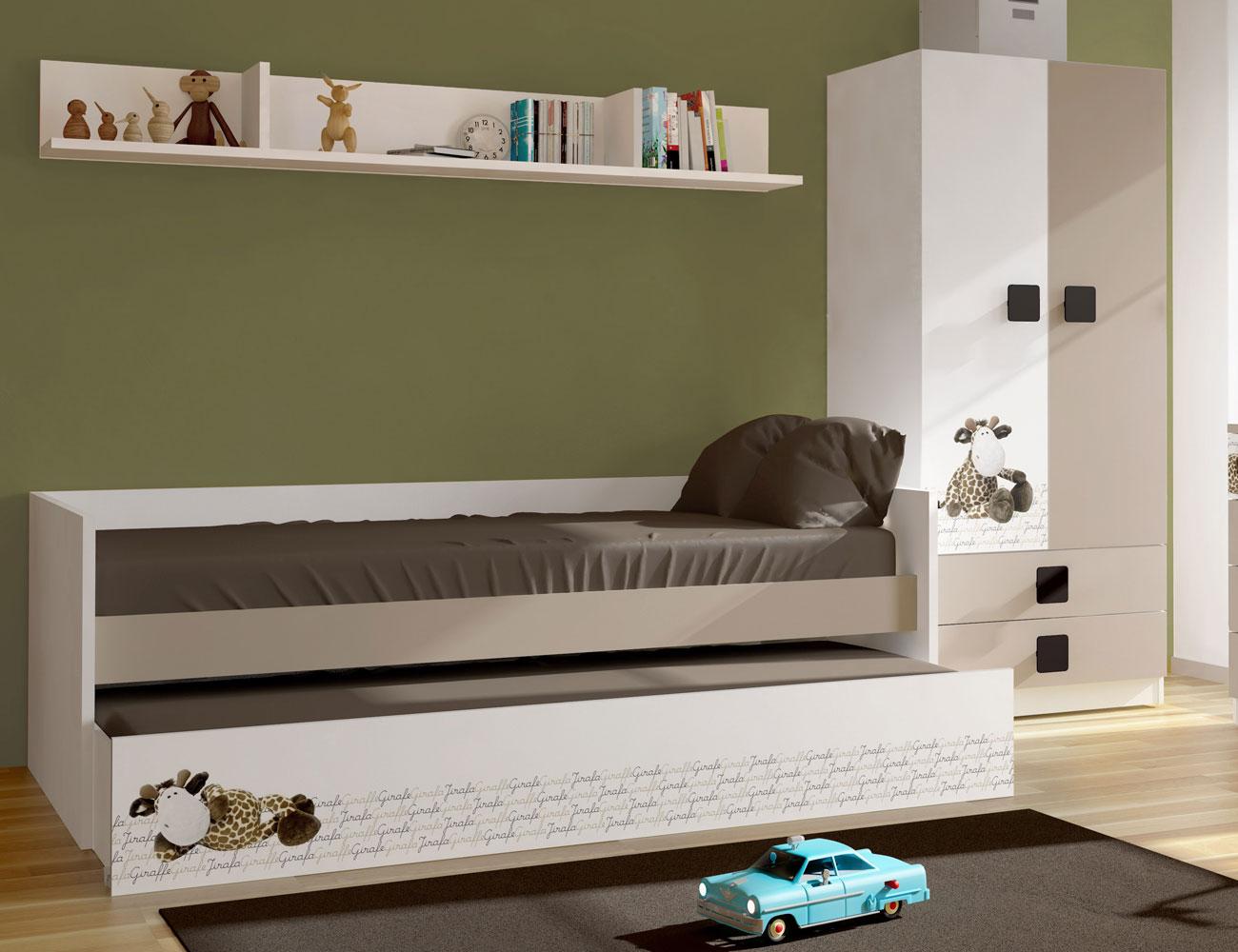 Dormitorio juvenil jirafa