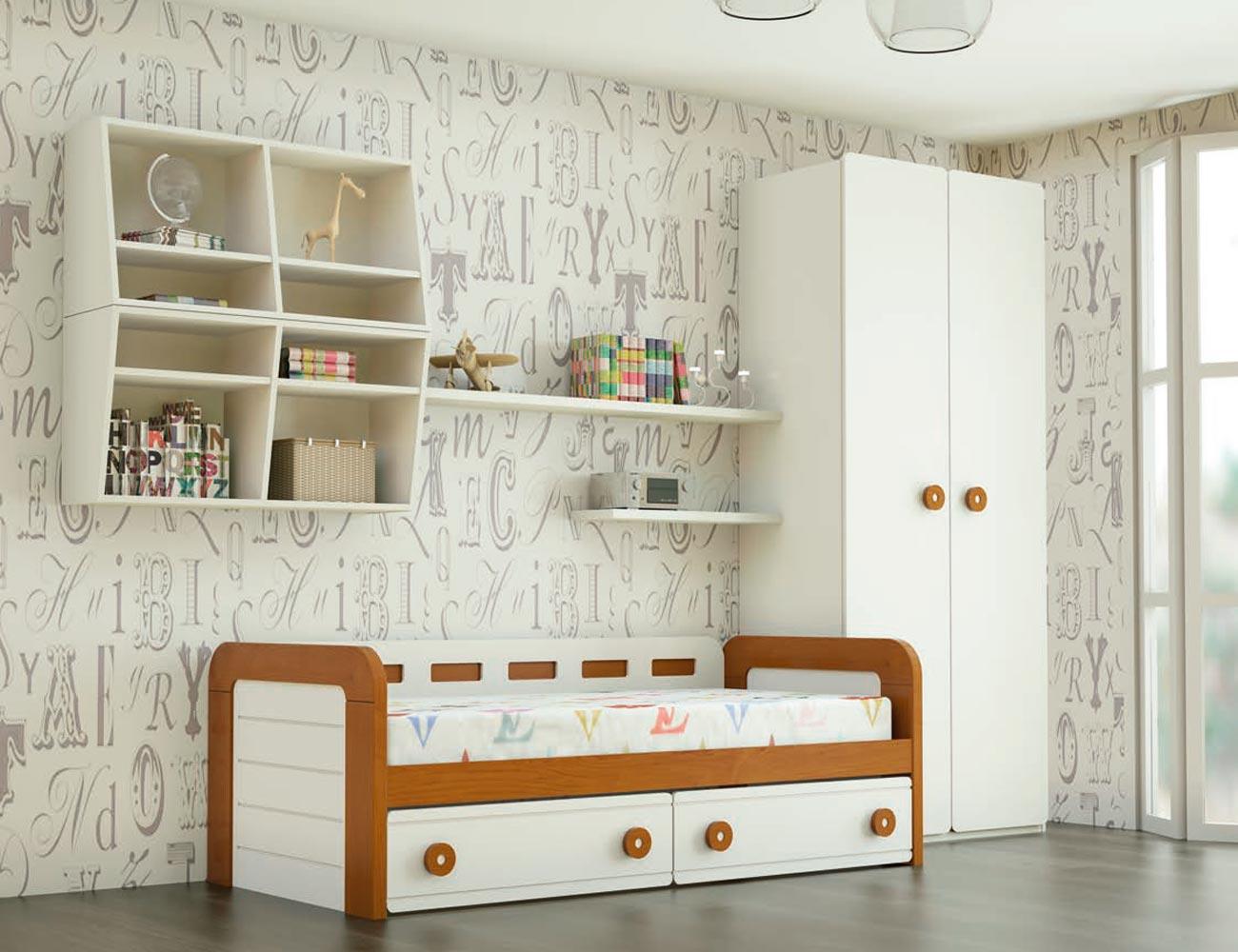 Dormitorio juvenil madera 115