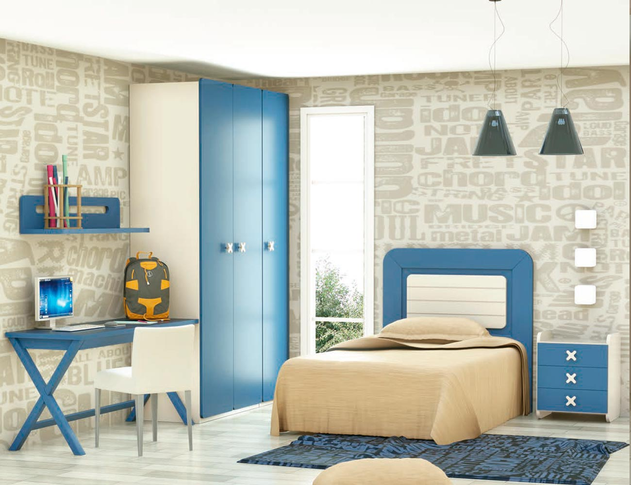 Dormitorio juvenil madera 121