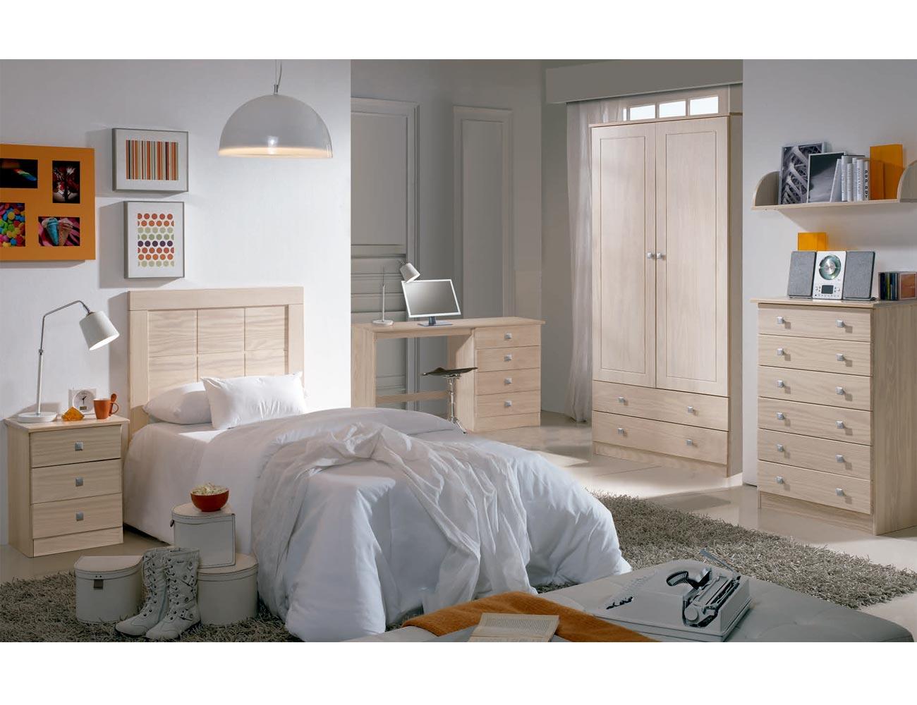 Dormitorio juvenil madera decape