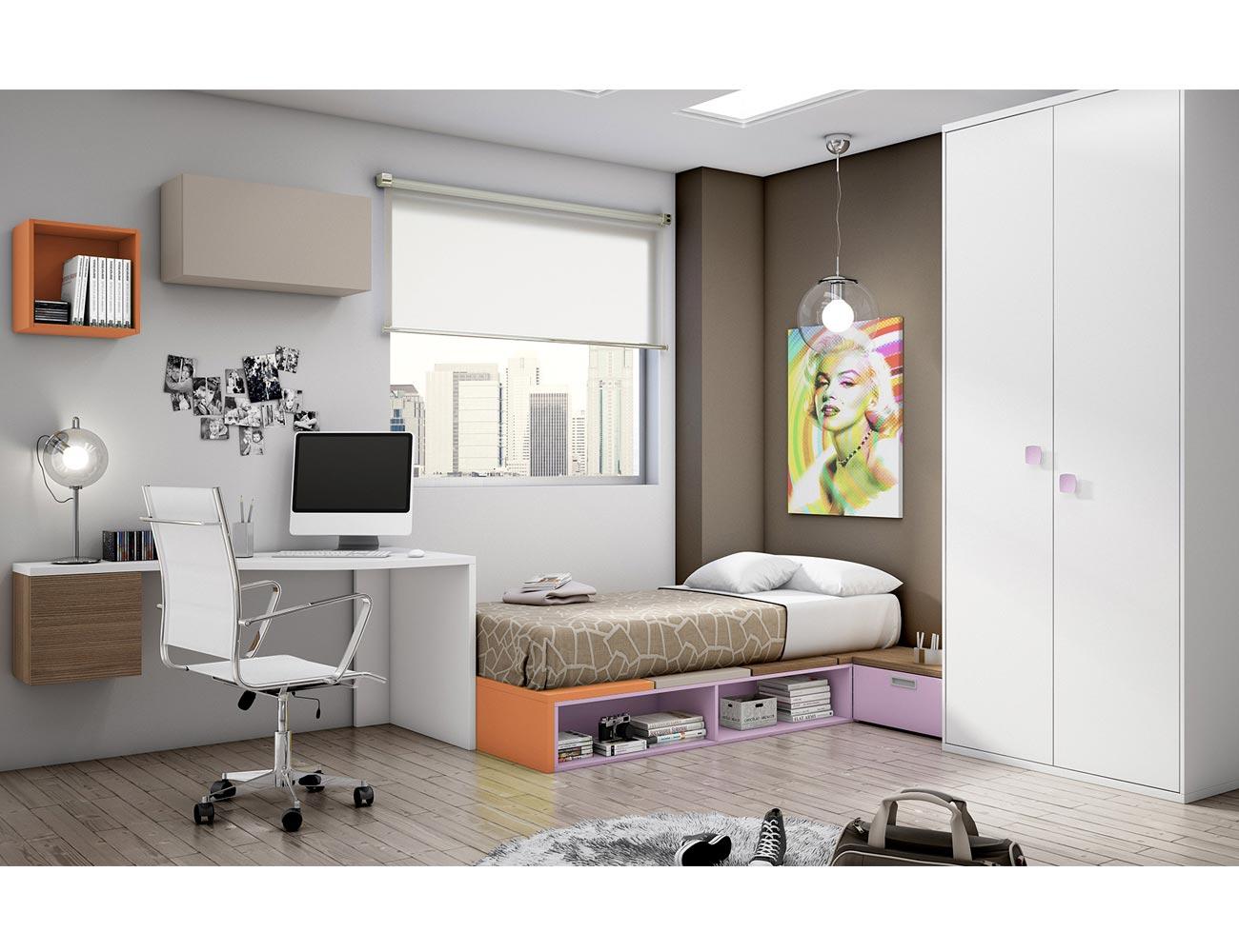 Dormitorio juvenil moderno box cube armario