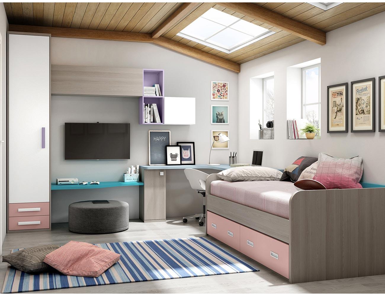 Muebles dormitorio juvenil moderno 20170723215141 - Muebles dormitorios juveniles modernos ...