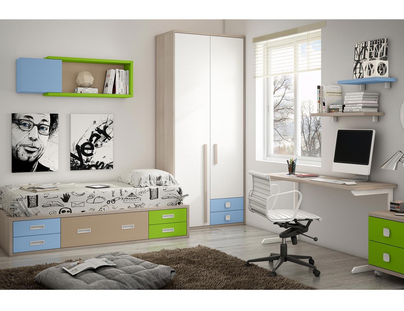 Dormitorio juvenil moderno box cube moderno