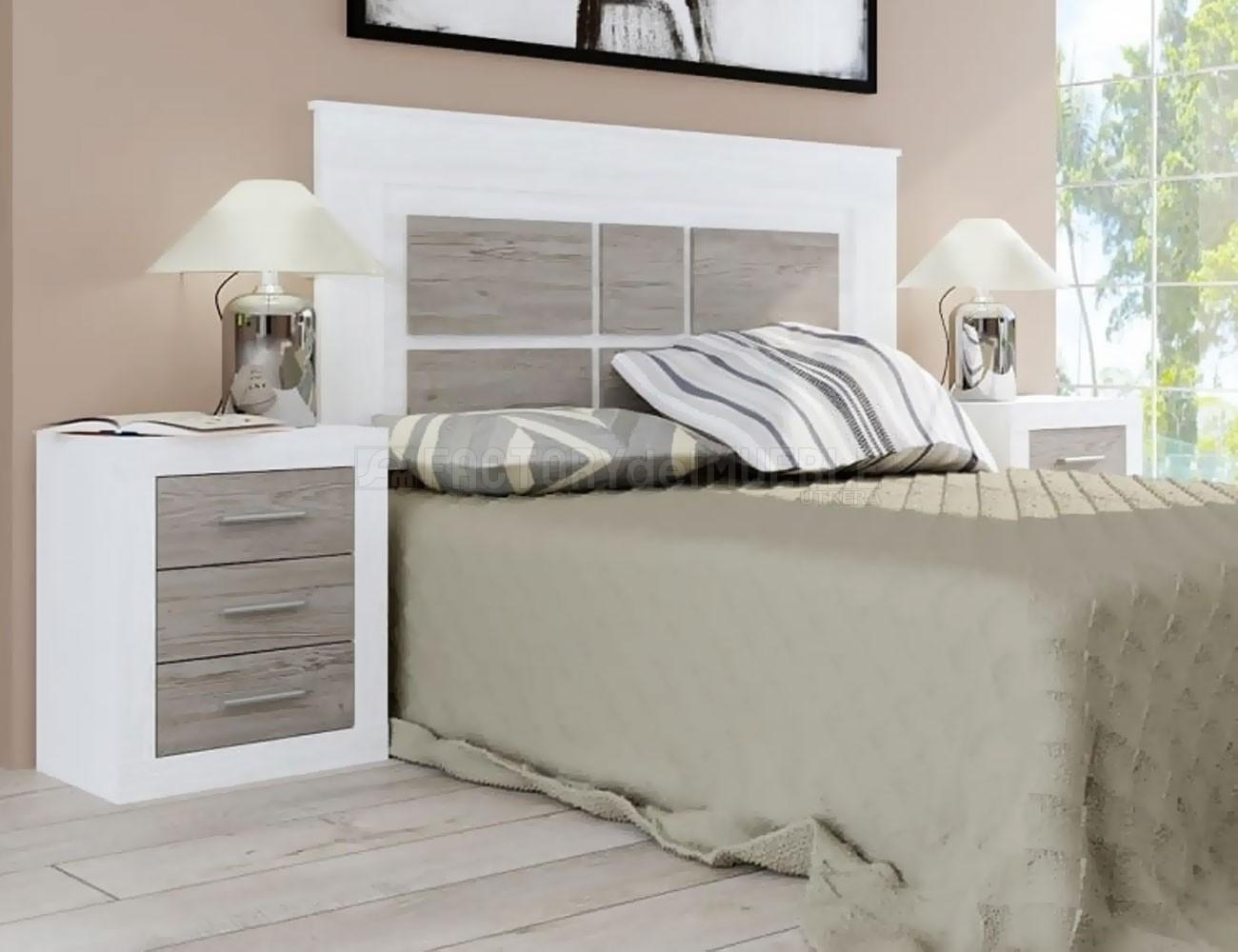 Dormitorio lara andersen pino gris