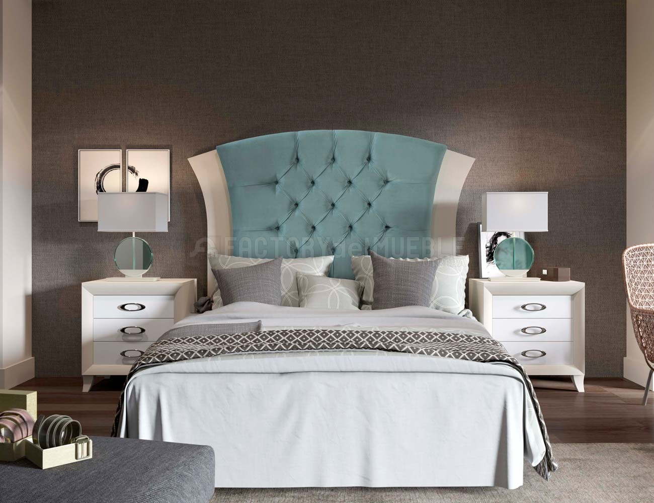 Dormitorio marilyn turquesa1