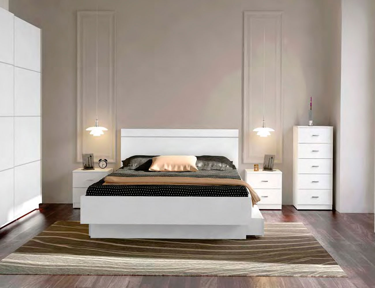Dormitorio matrimonio blanco barato