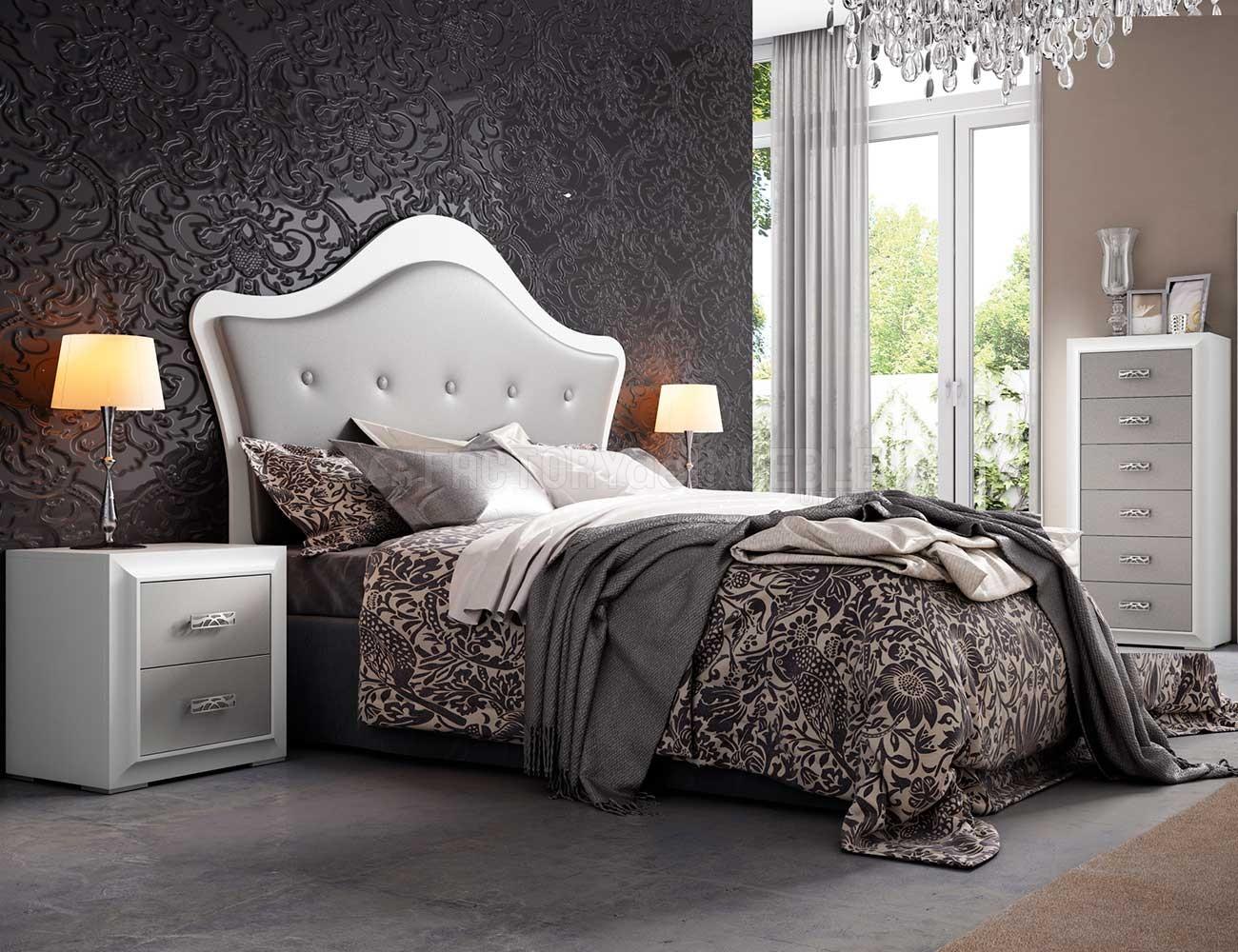 Dormitorio de matrimonio Mito con cabecero tapizado en polipiel ...