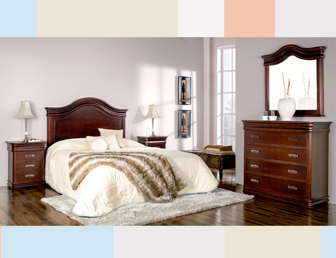 Dormitorio matrimonio cabecero imperio curvo