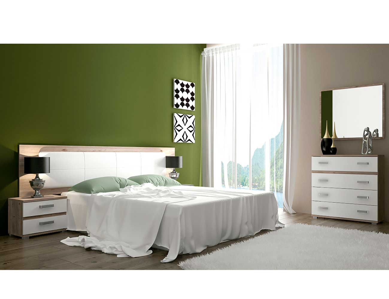 Dormitorio matrimonio cambrian blanco cordoba 3