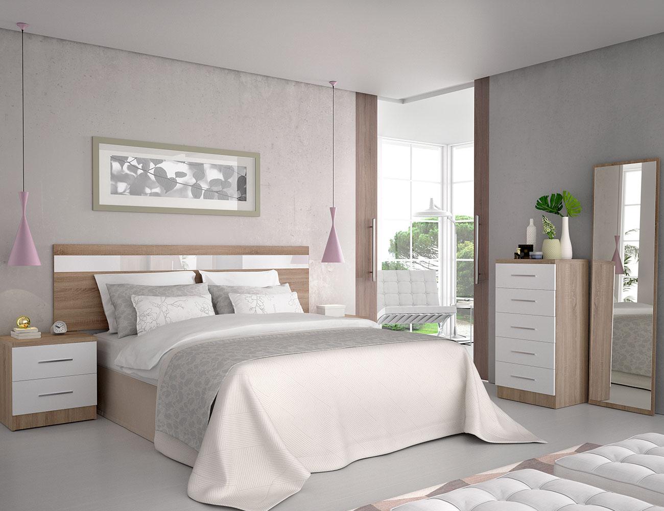 Dormitorio matrimonio cambrian blanco oferta1