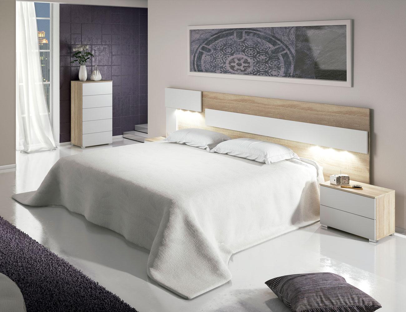 Dormitorio matrimonio cambrian blanco oferta2