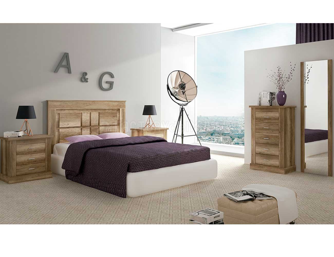 Dormitorio matrimonio chellen cabecero