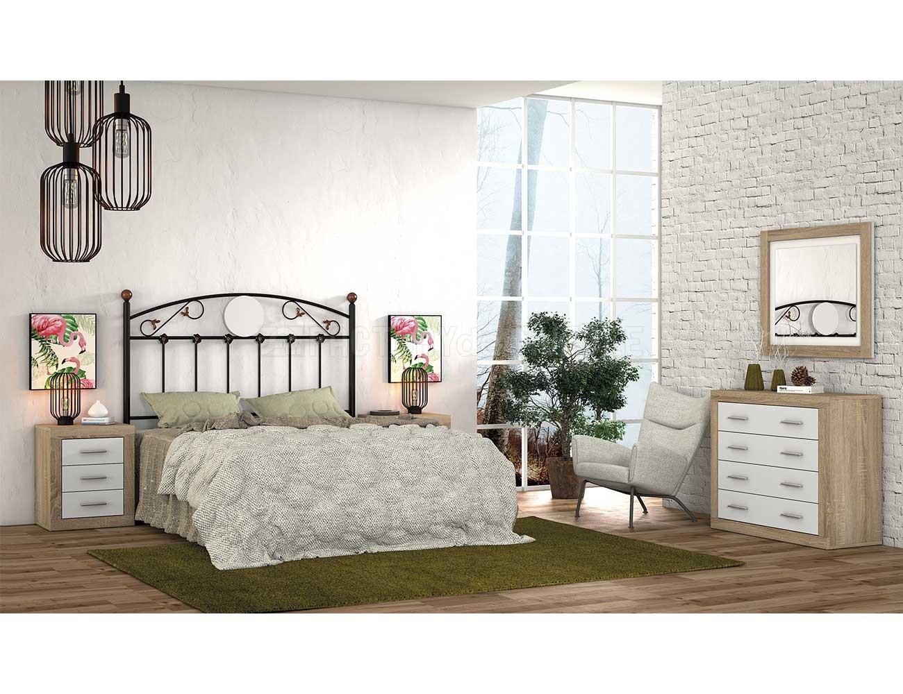 Dormitorio matrimonio con cabecero de forja 54