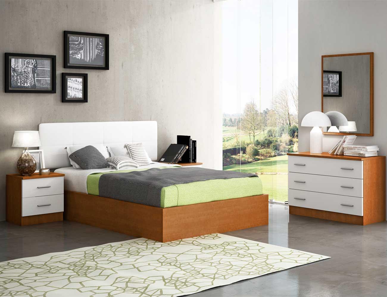 Dormitorio matrimonio estilo moderno pu deva nogal blanco