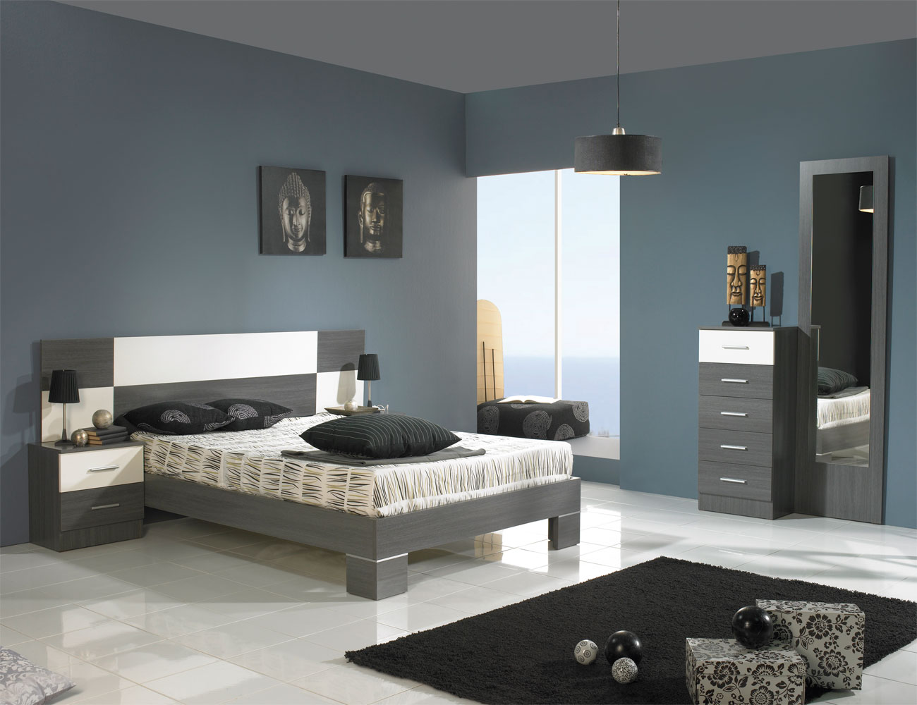Dormitorio matrimonio estilo moderno ava ceniza blanco1