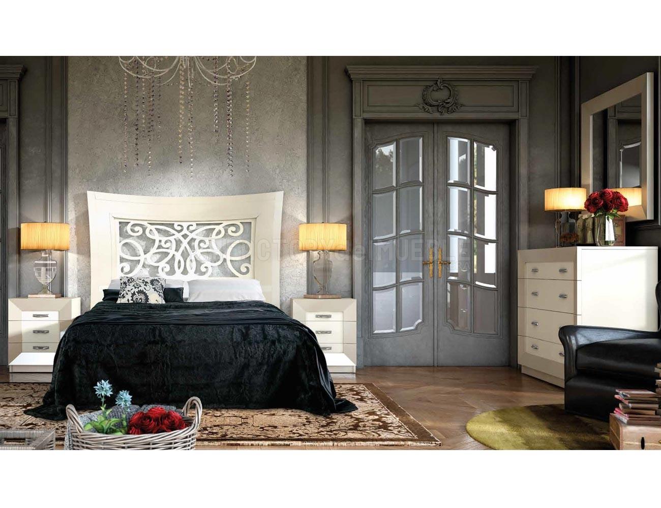Dormitorio matrimonio madera neoclasico