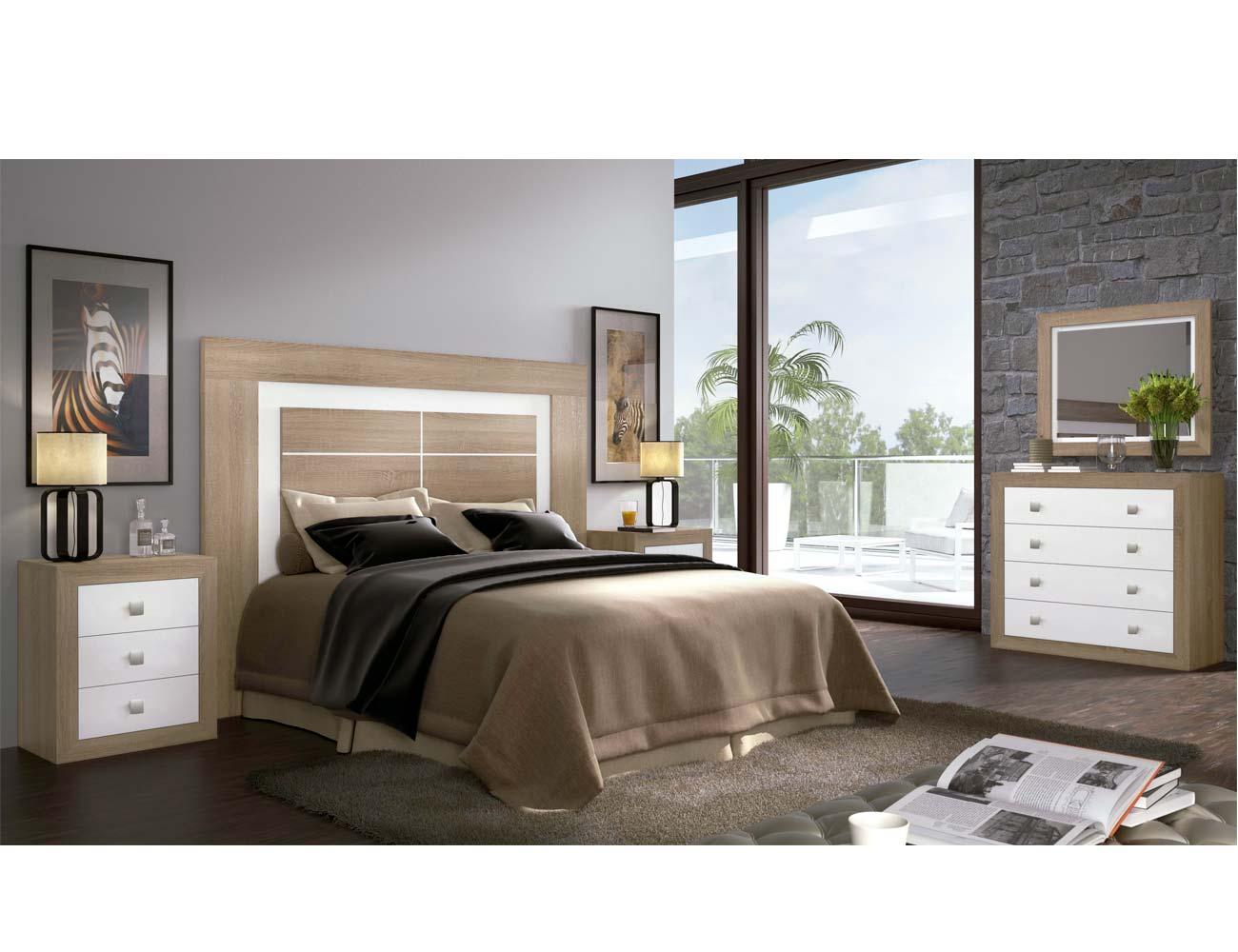 Dormitorio matrimonio moderno 04 color cambrian blanco