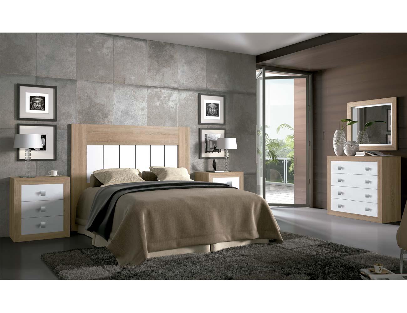 Dormitorio matrimonio moderno 07 cambrian blanco