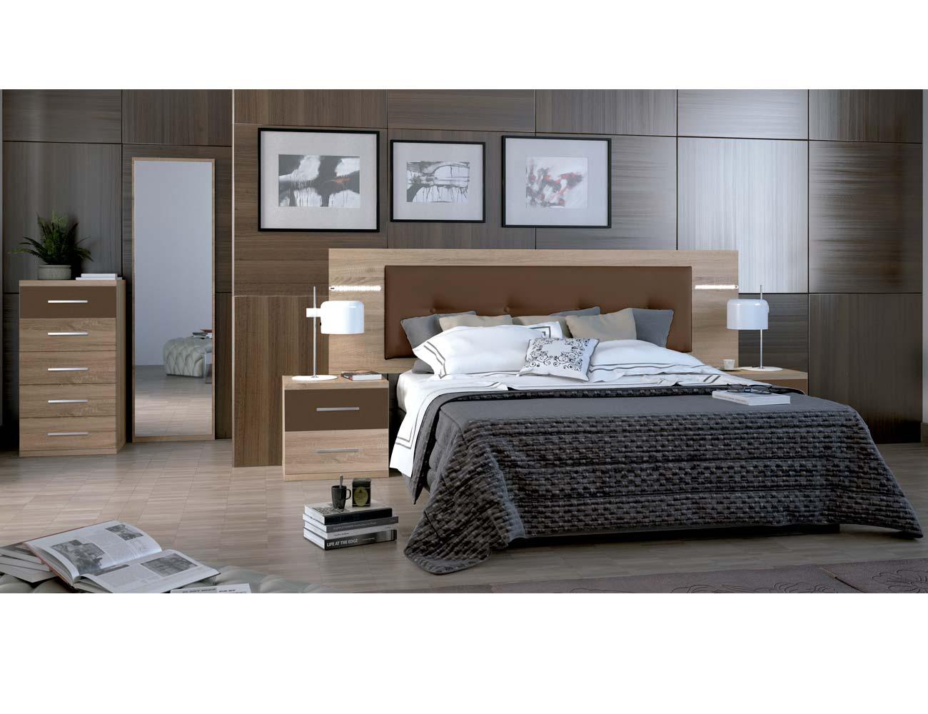 Dormitorio matrimonio moderno 16 cambrian chocolate
