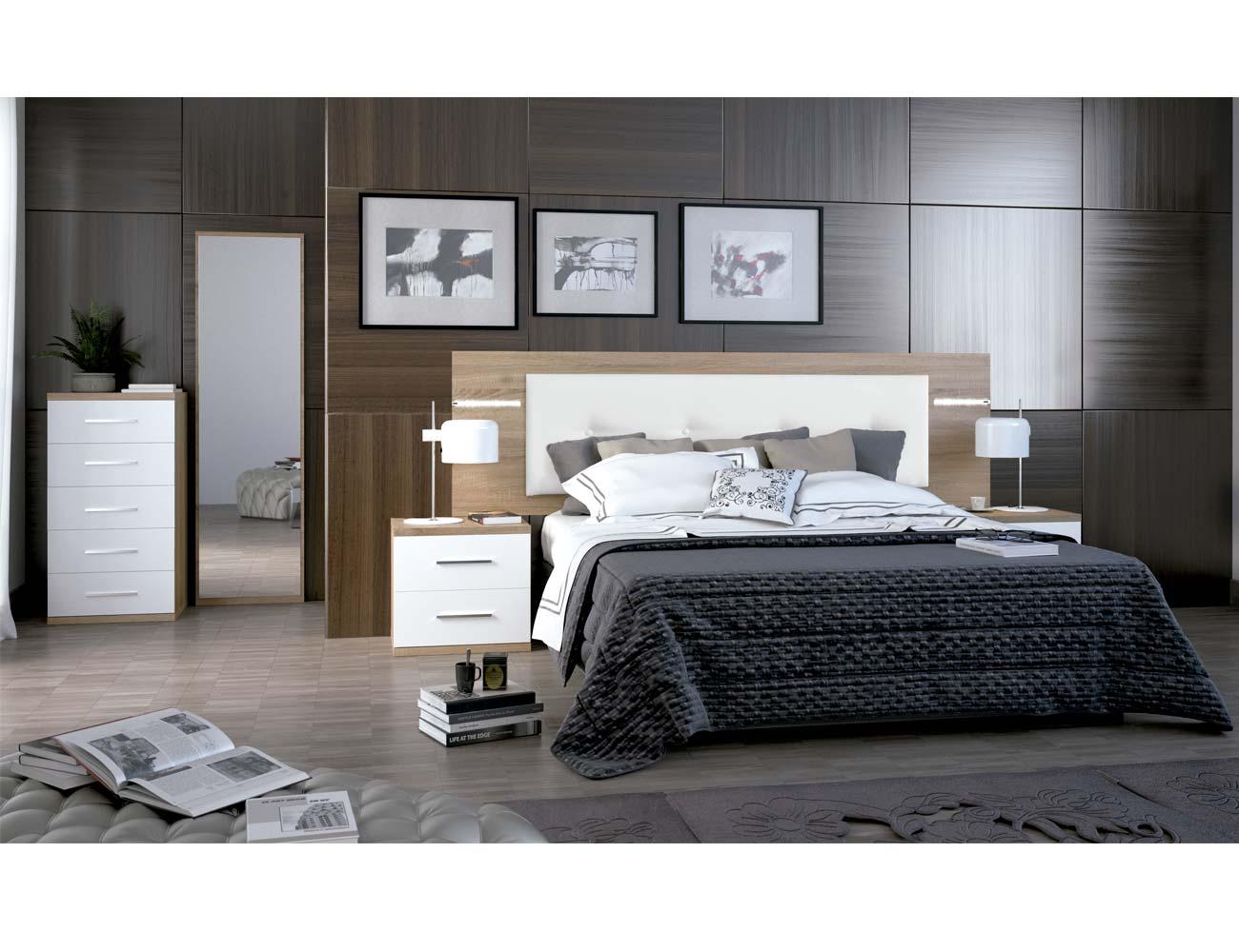 Dormitorio matrimonio moderno 17 cambrian blanco